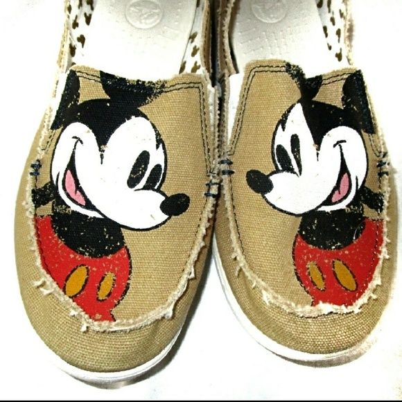 d39edc63860816 CROCS Shoes - DISNEY CROCS MICKEY MOUSE DISTRESSED CANVAS LOAFER